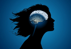 woman mind silhouette