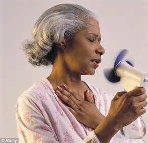 older woman fan